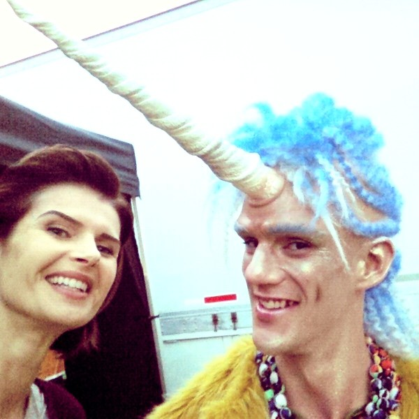 With Everett Shea, aka the Manicorn