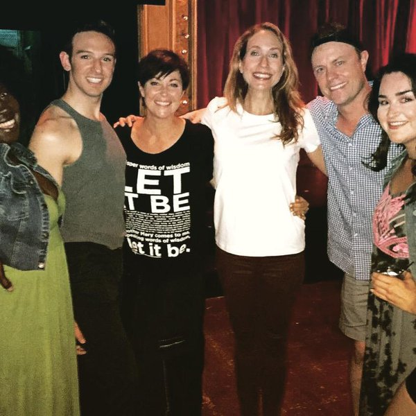 Kim Rhodes and Laura Jordan at her performance of 'Silence'