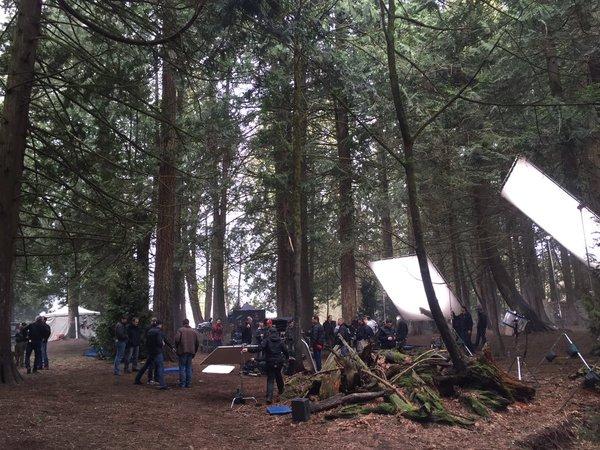 Director Eduardo Sanchez tweet - filming in the beautiful woods