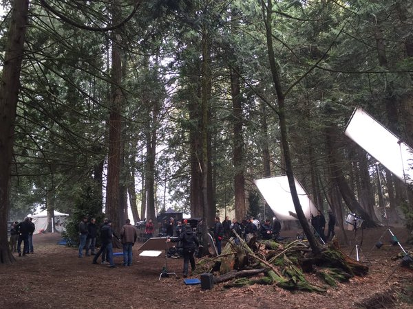 Director Eduardo Sanchez tweet - filming in the beautiful woods