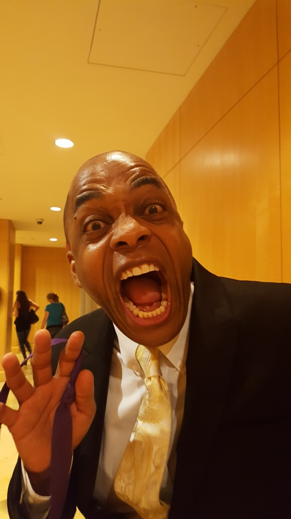 Rick Worthy shows off his fangs